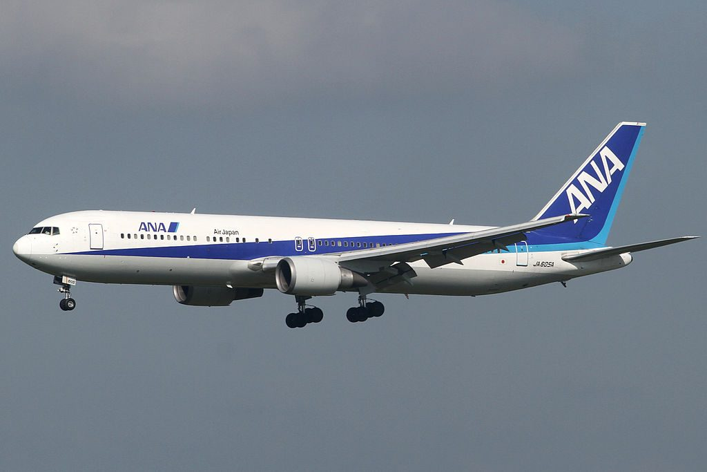 ANA All Nippon Airways JA605A Boeing 767 381ER at Narita International Airport