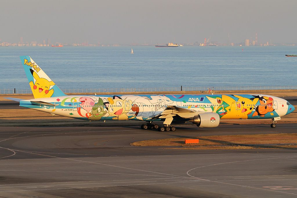 ANA All Nippon Airways JA754A Boeing 777 381 Pokemon Livery at Tokyo International Airport