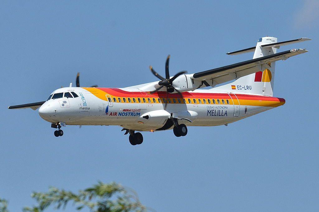 ATR 72 600 Air Nostrum Iberia Regional ANE Cuidad Autonoma Melilla EC LRU at Barcelona Airport