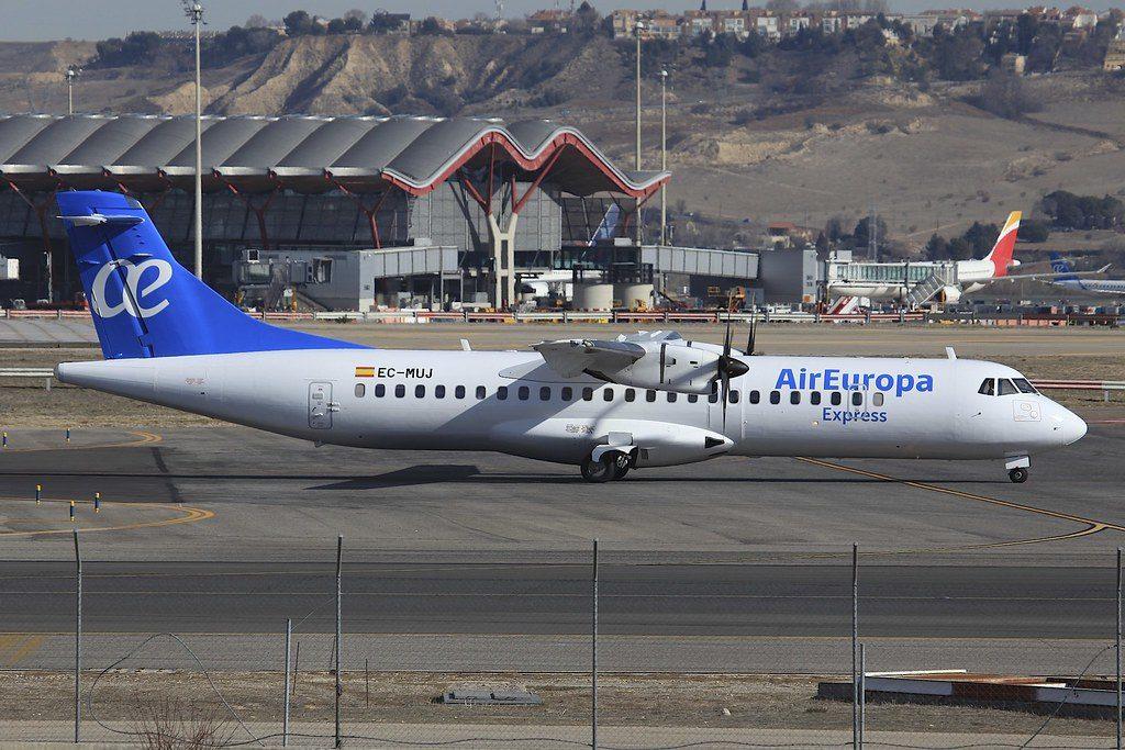 Air Europa Express Aeronova EC MUJ ATR 72 500 at MAD Madrid Barajas Airport
