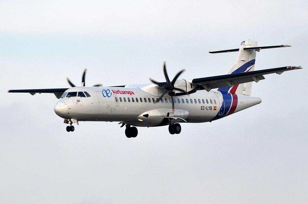 Air Europa Express Swiftair ATR 72 EC LYB at Barcelona Airport