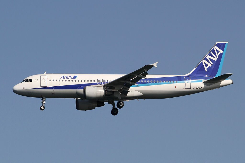 Airbus A320 211 ANA All Nippon Airways JA8947 at Tokyo International Airport