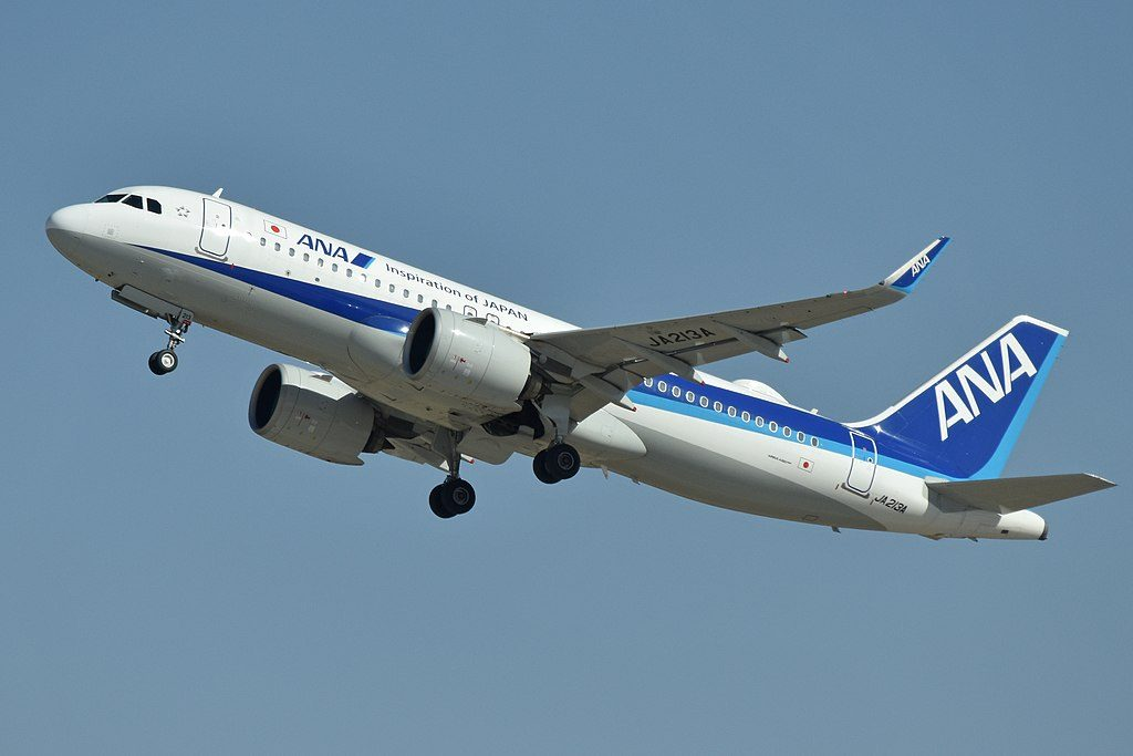 Airbus A320 271N JA213A ANA All Nippon Airways at Beijing Capital International Airport