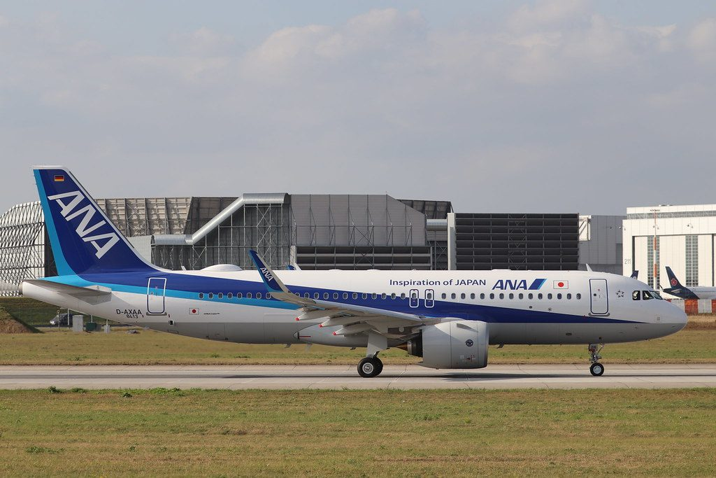 Airbus A320neo ANA All Nippon Airways JA216A