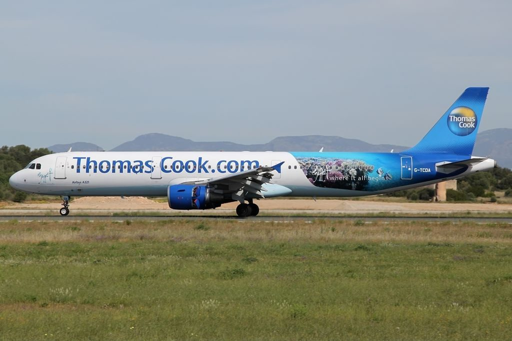 Airbus A321 211 Thomas Cook Airlines G TCDA at Palma de Mallorca Airport