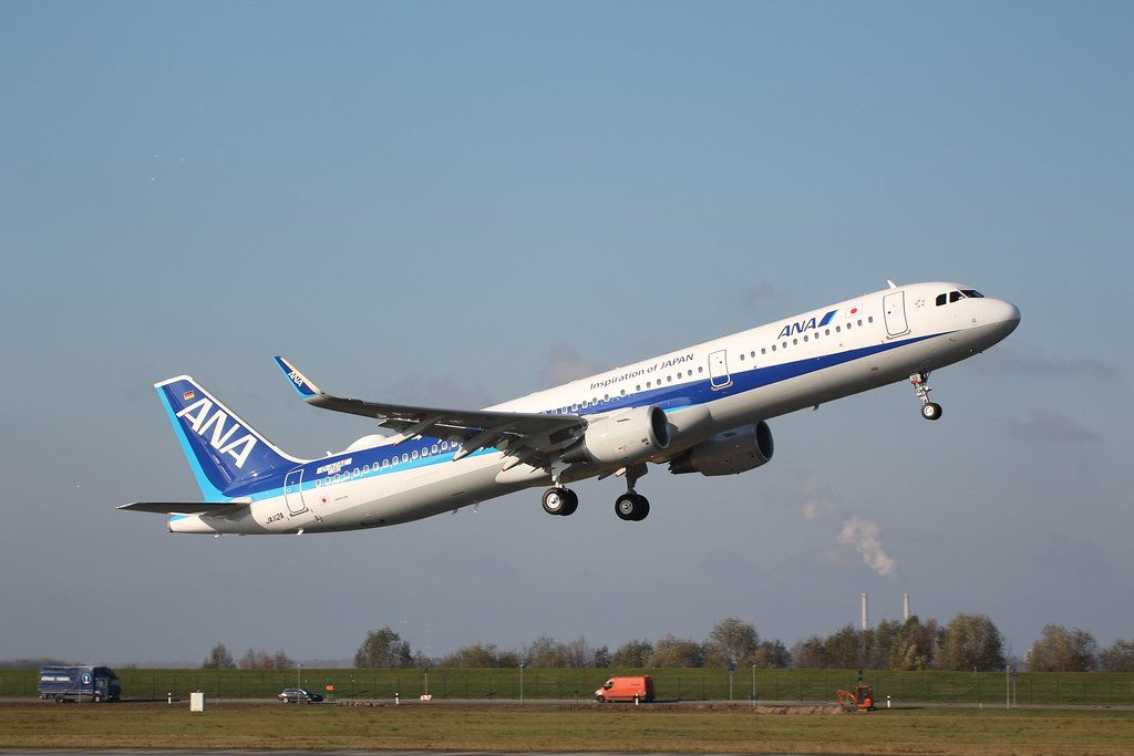 Airbus A321 211WL JA112A ANA All Nippon Airways