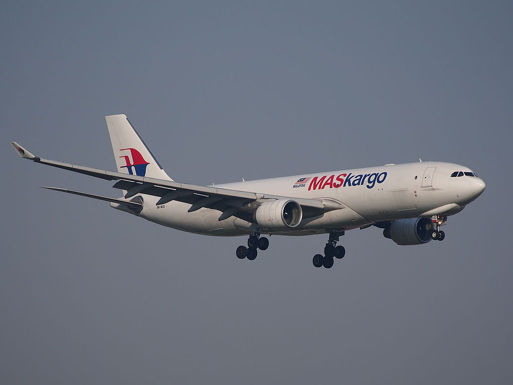 Airbus A330 223F Malaysia Airlines MASkargo 9M MUD landing at Schiphol