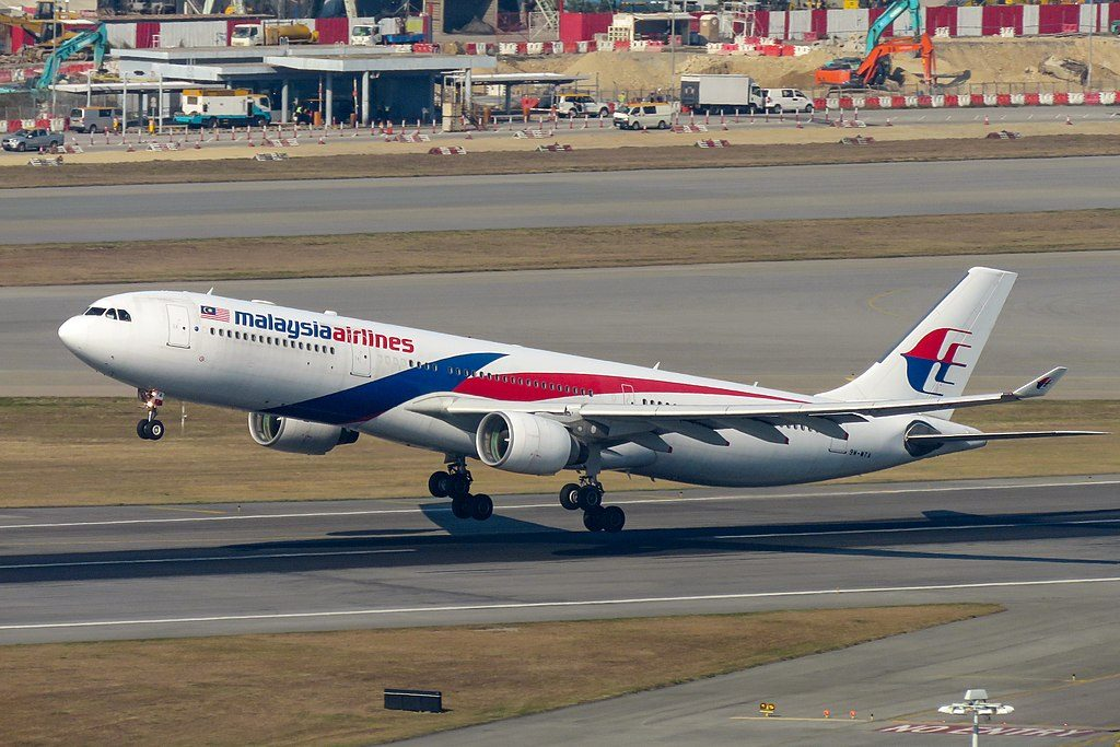 Airbus A330 323 Malaysia Airlines 9M MTA at Hong Kong International Airport