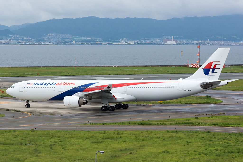 Airbus A330 323 Malaysia Airlines 9M MTK Departed to Kuala Lumpur at Osaka Kansai Intl Airport