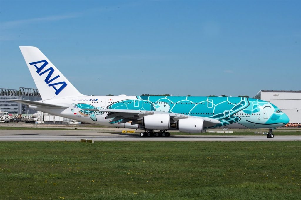 Airbus A380 841 All Nippon Airways ANA F WWAF JA382A MSN 263 at Tolouse Airport