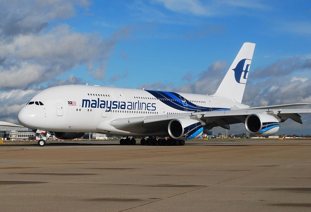 Airbus A380 841 Malaysia Airlines 9M MNB at London Heathrow Airport
