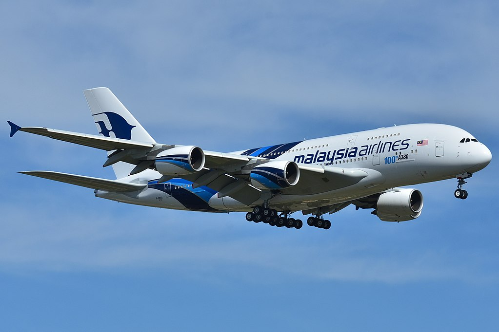 Airbus A380 841 Malaysia Airlines 9M MNF 100th A380 title at Toulouse Blagnac Airport