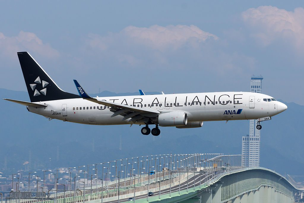 All Nippon Airways ANA B737 881WL JA51AN Star Alliance Livery at Kansai International Airport