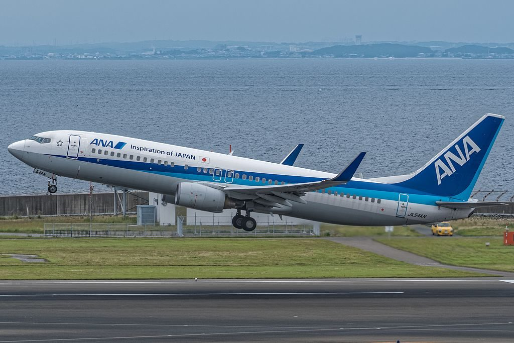 All Nippon Airways ANA Boeing 737 881WL JA54AN at Chubu International Airport