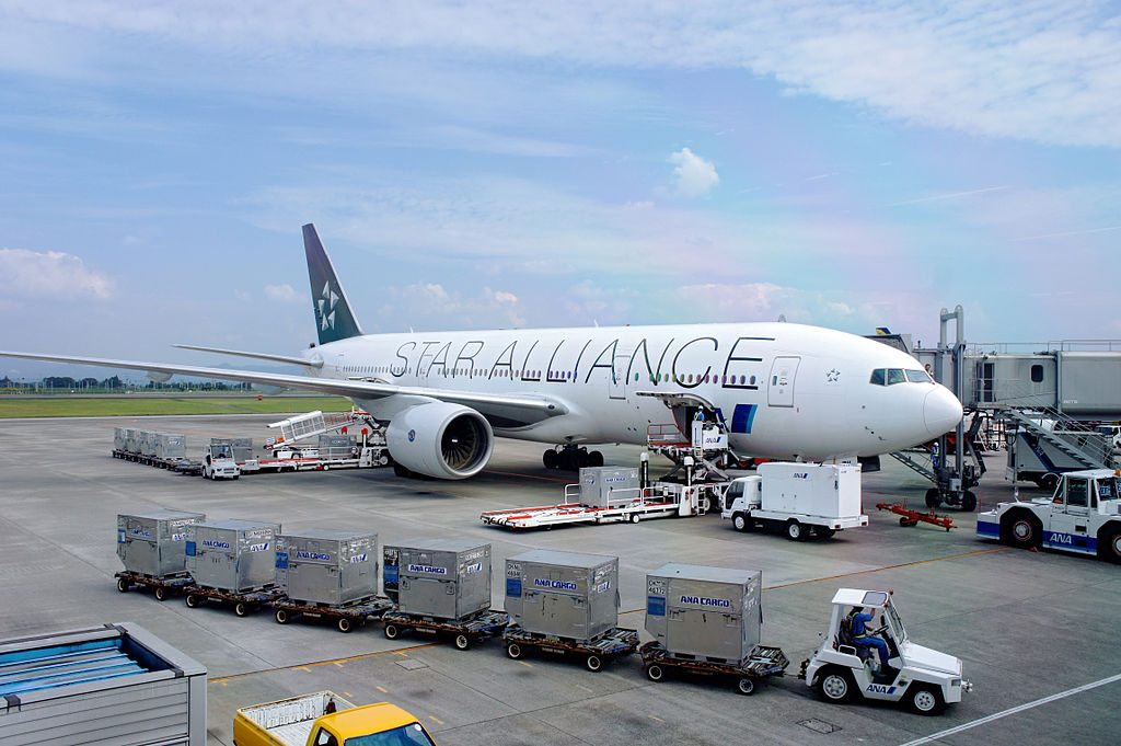 All Nippon Airways ANA Boeing 777 281 STAR ALLIANCE Livery JA711A at Kagoshima Airport