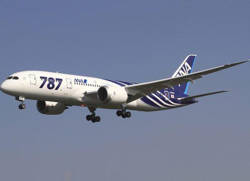 All Nippon Airways ANA Boeing 787 8 Dreamliner JA801A at Okayama Airport