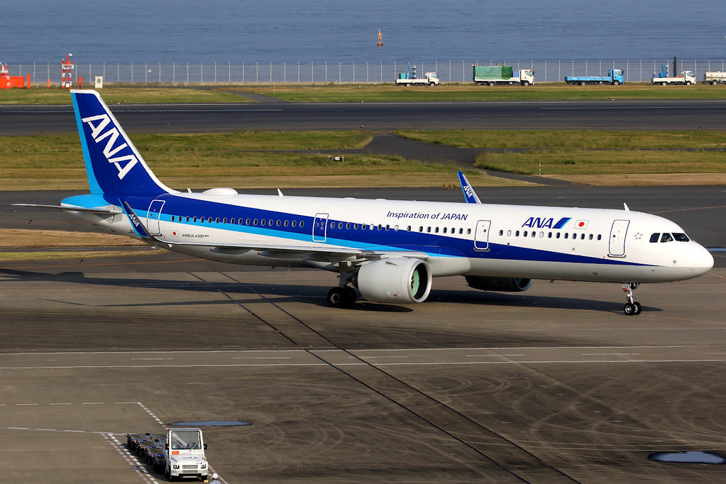 All Nippon Airways ANA JA134A Airbus A321 272N at Tokyo Haneda Airport