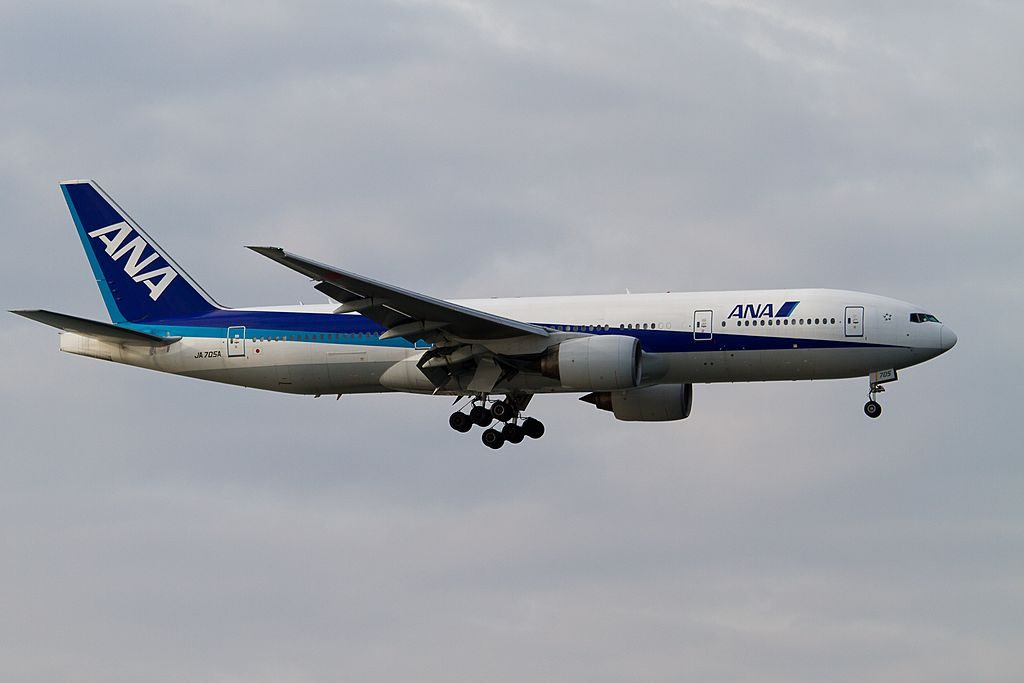 All Nippon Airways ANA JA705A Boeing 777 281 at Tokyo Haneda Airport