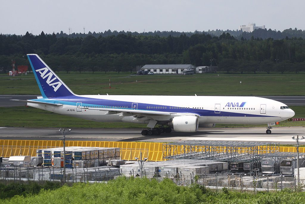 All Nippon Airways ANA JA707A Boeing 777 281ER at Narita International Airport
