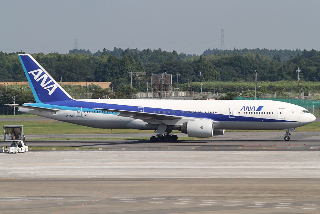 All Nippon Airways ANA JA710A Boeing 777 281ER at Narita International Airport