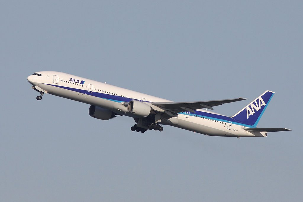 All Nippon Airways ANA JA751A Boeing 777 381 Take off from Runway 34R Tokyo International Airport