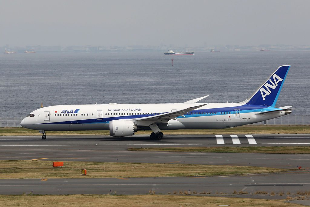 All Nippon Airways ANA JA837A Boeing 787 9 Dreamliner at Tokyo International Airport