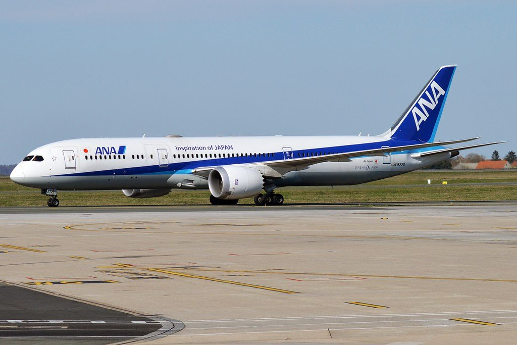 All Nippon Airways ANA JA872A Boeing 787 9 Dreamliner at Paris Charles de Gaulle Airport