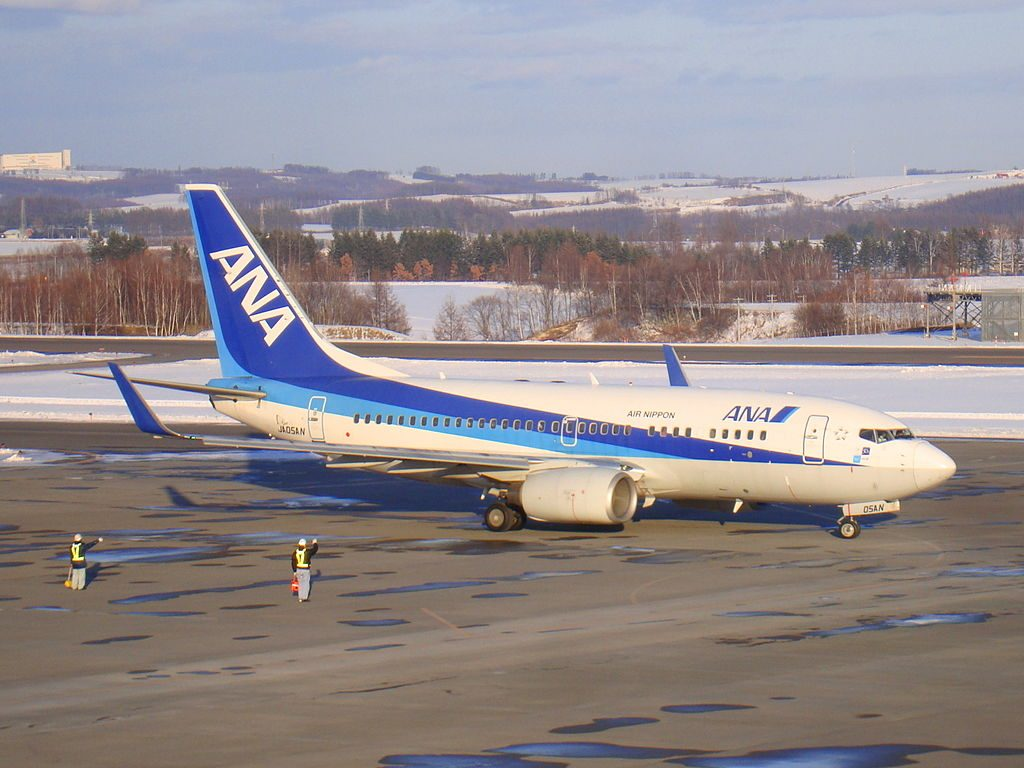 All Nippon Airways Air Nippon Boeing 737 700 JA05AN at Memanbetsu Airport
