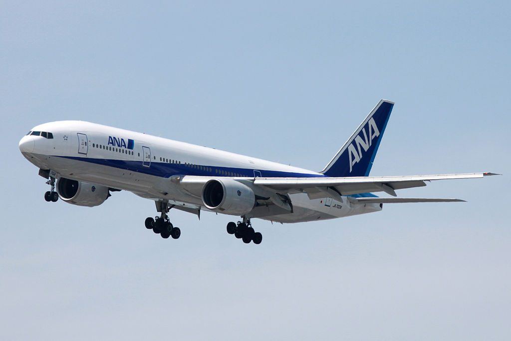 Boeing 777 281 All Nippon Airways ANA JA702A at Tokyo International Airport