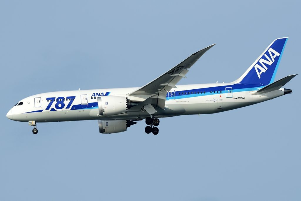 Boeing 787 8 Dreamliner All Nippon Airways ANA JA803A at Tokyo International Airport