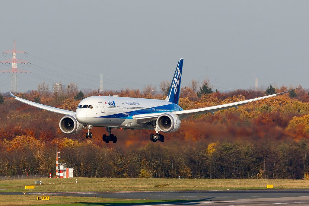 Boeing 787 9 Dreamliner All Nippon Airways ANA JA876A landing photos