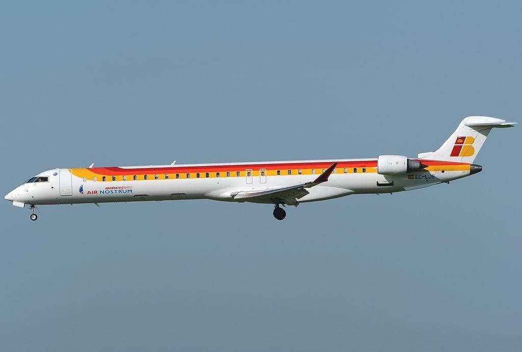 Bombardier CRJ 1000NextGen Iberia Regional Air Nostrum EC LJS at Fiumicino Airport