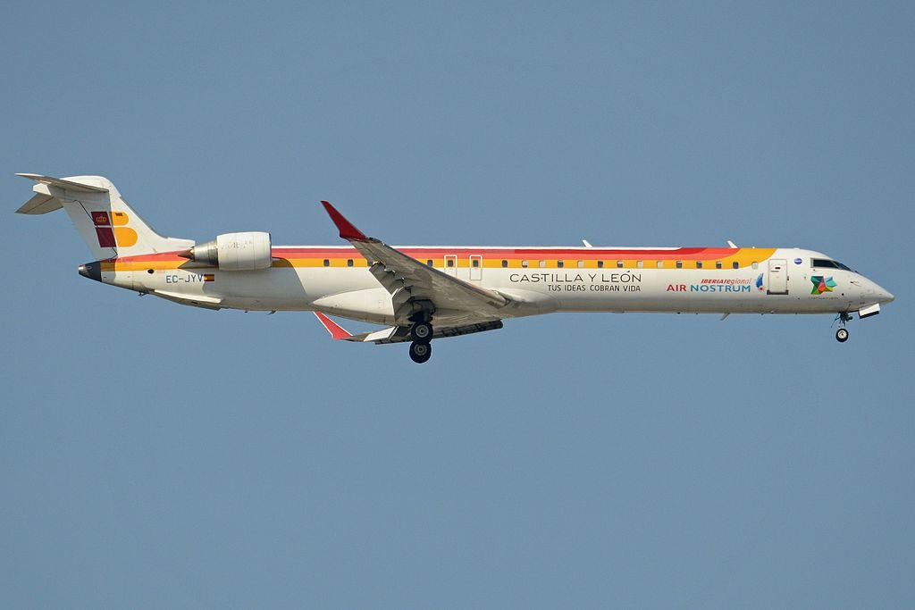 Bombardier CRJ 900ER EC JYV Iberia Regional Air Nostrum at Madrid Barajas Airport