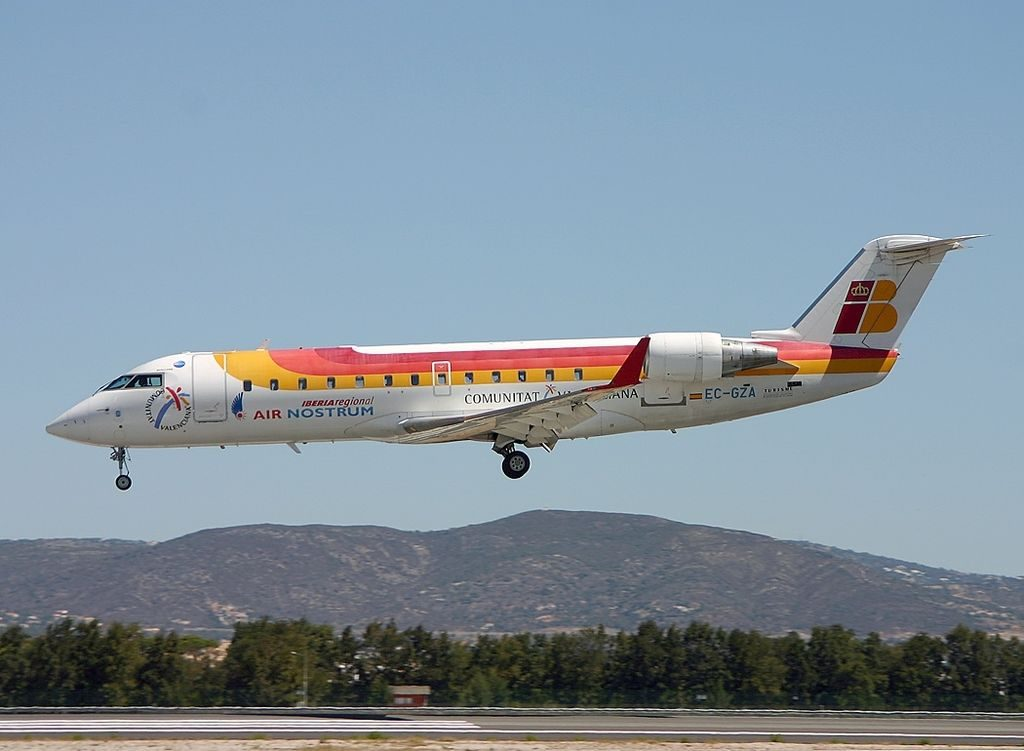 Canadair CL 600 2B19 Regional Jet CRJ 200ER Air Nostrum Iberia Regional EC GZA at Faro Airport