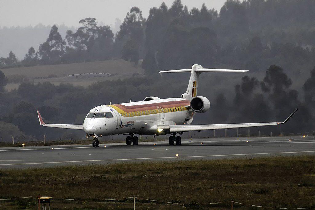 EC JZU Bombardier CRJ900 of Air Nostrum Iberia Regional at Santiago de Compostela Airport