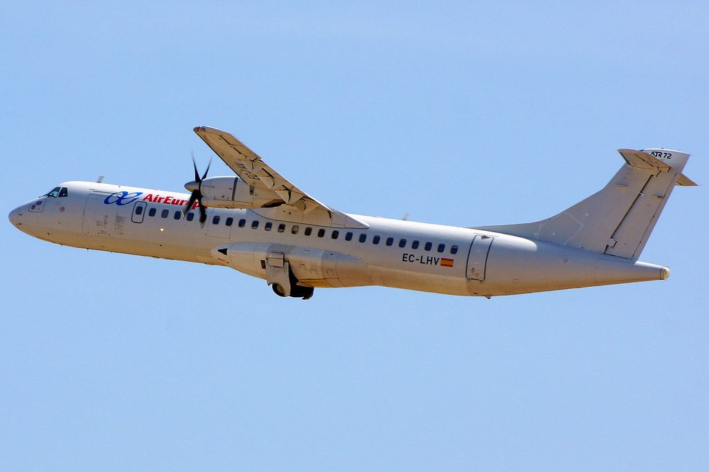 EC LHV ATR72 202 Air Europa Express Swiftair at Valencia