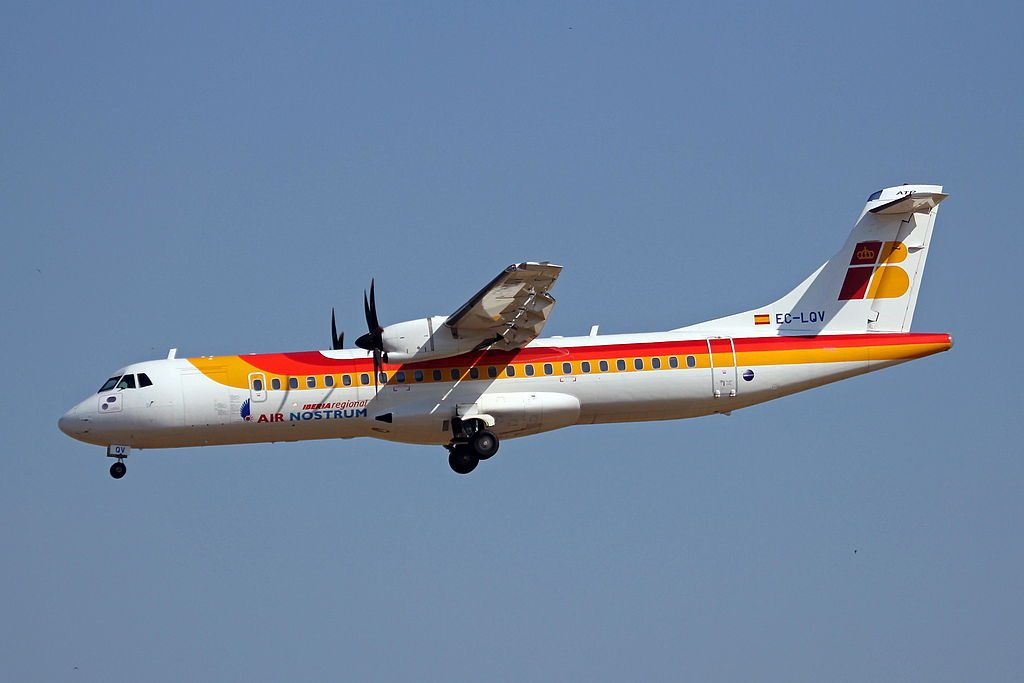 EC LQV ATR 72 of Iberia Regional Air Nostrum at Palma de Mallorca Airport