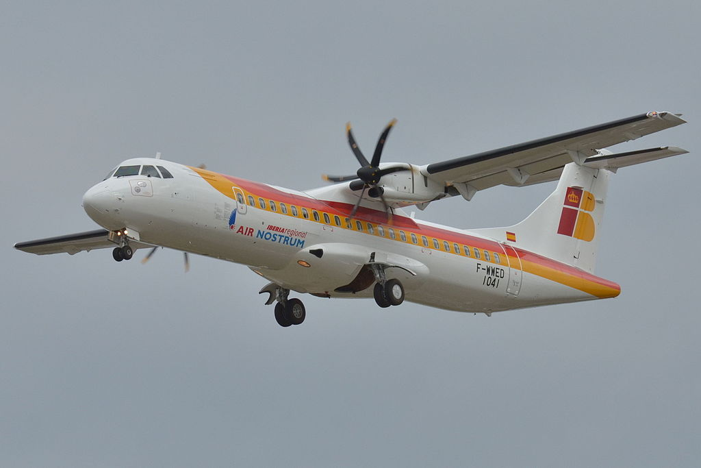 EC LSQ ATR 72 600 Iberia Regional Air Nostrum F WWED at Toulouse Blagnac International Airport