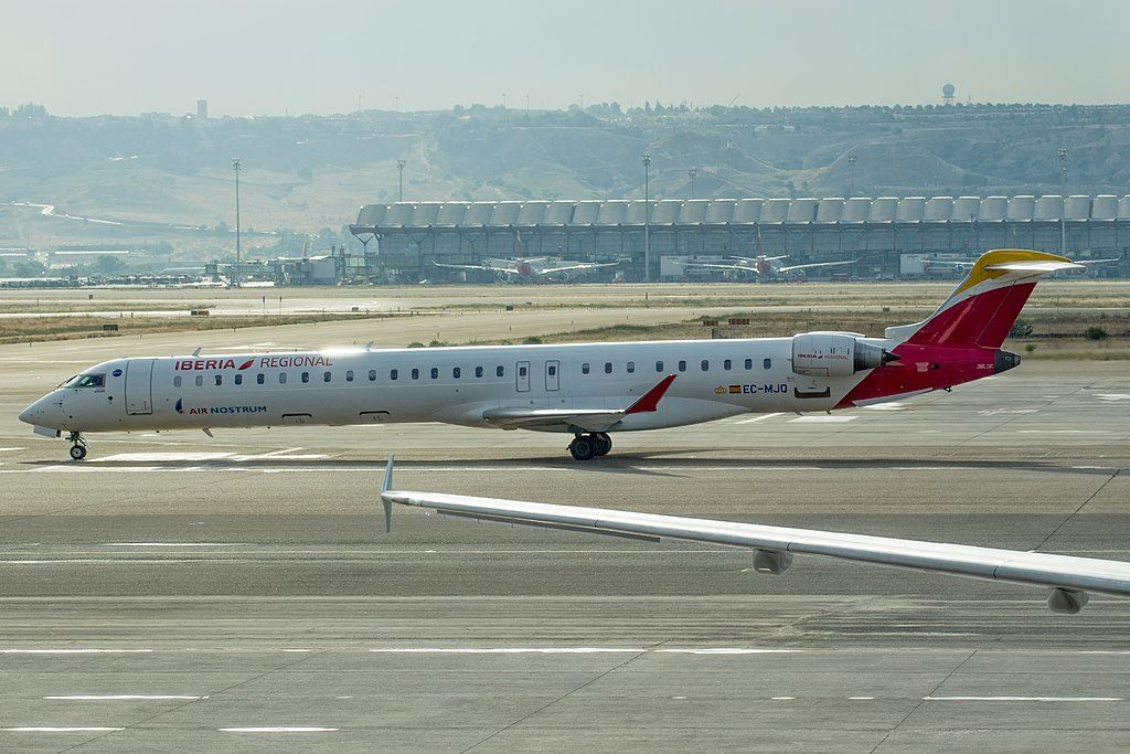 EC MJQ Bombardier CRJ1000 Air Nostrum Iberia Regional at Madrid Barajas Airport