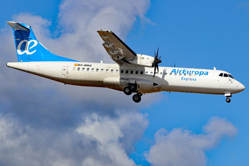 EC MMZ ATR 72 500 Air Europa Express Swiftair at Arrecife Airport