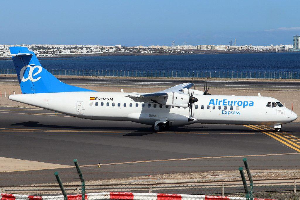 EC MSM ATR 72 500 Air Europa Express at Arrecife Airport