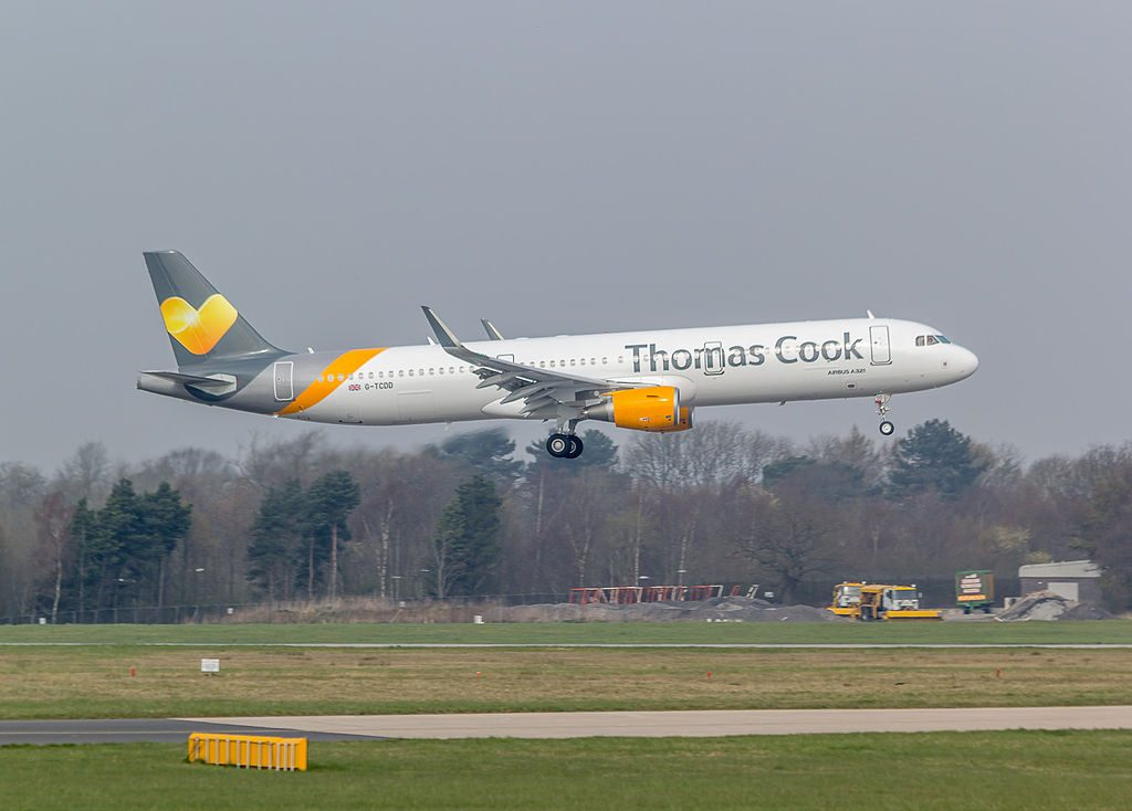 G TCDD Thomas Cook Airlines Airbus A321 211WL at Manchester Airport