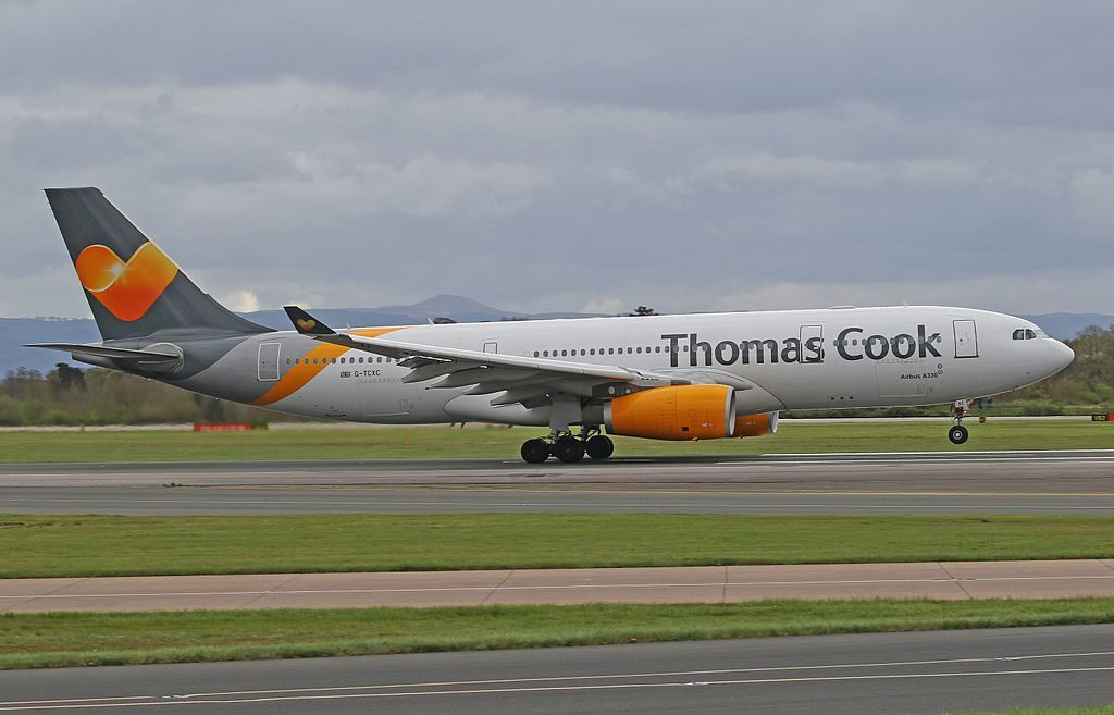 G TCXC Airbus A330 243 of Thomas Cook Airlines at Manchester Airport