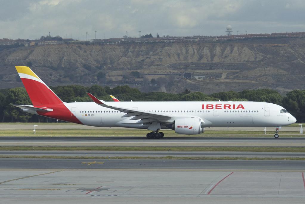 IBERIA Airbus A350 900 EC MYX Paco de Lucia at MAD Madrid Barajas Airport