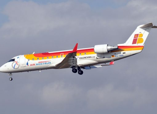 Iberia Regional Air Nostrum Bombardier CRJ 200ER EC HHI at Barcelona Airport