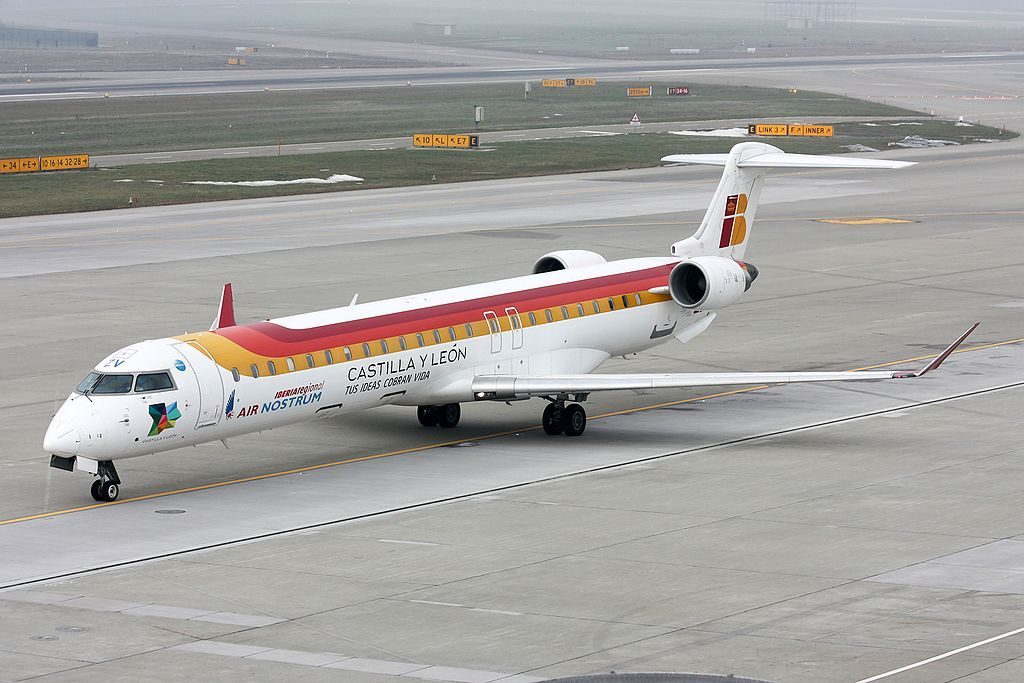 Iberia Regional Air Nostrum Bombardier CRJ 900ER EC JZV at Zurich Airport