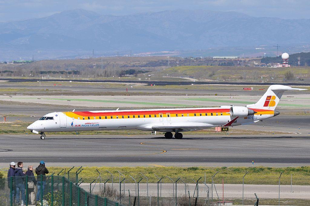 Iberia Regional Air Nostrum Canadair CL 600 2E25 Regional Jet CRJ 1000 EC LOJ at Madrid Barajas Airport