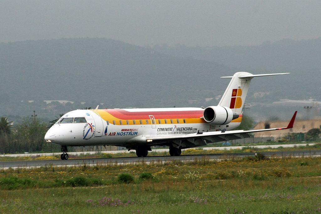 Iberia Regional Air Nostrum Canadair CL 600 Bombardier CRJ 200ER EC HEK at Palma de Mallorca Airport