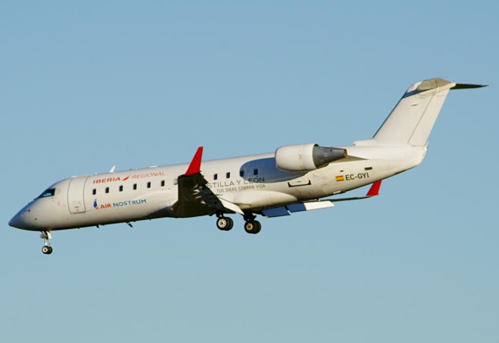 Iberia Regional Air Nostrum EC GYI Bombardier Canadair CRJ 200ER at Vitoria Gasteiz Airport