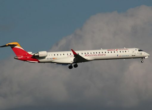 Iberia Regional Air Nostrum EC MJP Bombardier CRJ 1000NG at Toulouse Blagnac International Airport